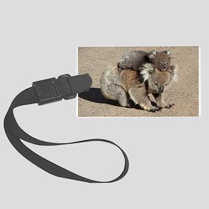 Baby Joey Koala Piggyback Ride Large Luggage Tag