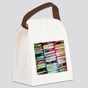 Abstract Cassettes Graphic Canvas Lunch Bag