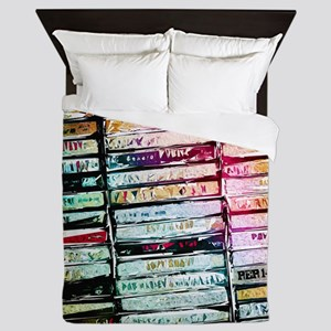 Abstract Cassettes Graphic Queen Duvet