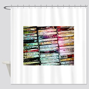 Abstract Cassettes Graphic Shower Curtain