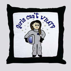 Light Astronaut Throw Pillow