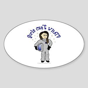 Light Astronaut Oval Sticker