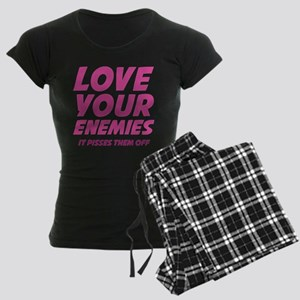 Love Your Enemies Women's Dark Pajamas