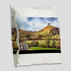 Colmers Hill Landscape Burlap Throw Pillow