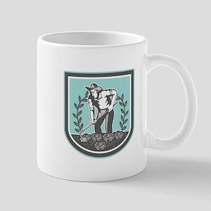 Organic Farmer Grabhoe Plant Shield Mugs