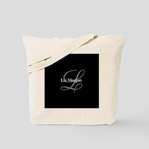 Elegant Black Monogram Tote Bag
