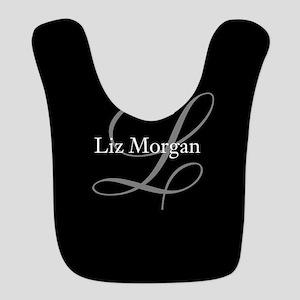 Elegant Black Monogram Bib