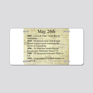 May 26th Aluminum License Plate