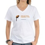 Golden Lion Tamarin Women's V-Neck T-Shirt