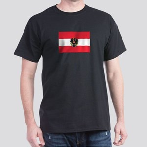 Flag of Austria NO Txt Dark T-Shirt