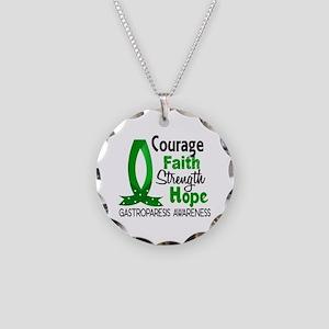Gastroparesis Courage Faith Necklace Circle Charm