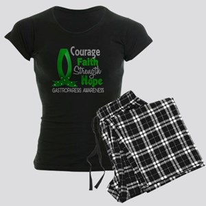 Gastroparesis Courage Faith Women's Dark Pajamas