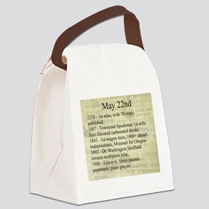 May 22nd Canvas Lunch Bag