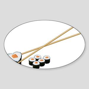Sushi Loves ME Sticker (Oval)