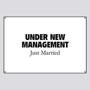 Under New Management. Just Married. Banner