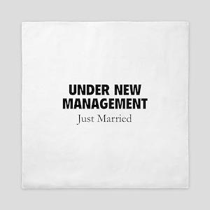 Under New Management. Just Married. Queen Duvet