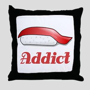 Sushi Addict Throw Pillow