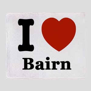 I love Bairn Throw Blanket