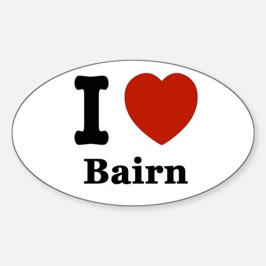 I love Bairn Sticker (Oval)