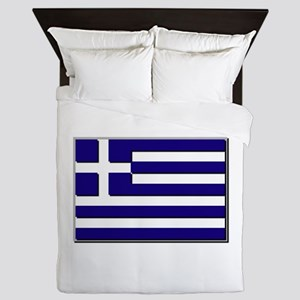 Greece Flag Queen Duvet