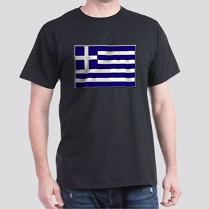 Flag of Greece NO Txt Dark T-Shirt