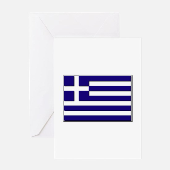 Flag of Greece NO Txt Greeting Card