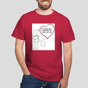 Heart Dog Support Dark T-Shirt