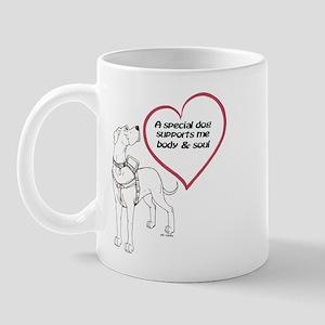 Heart Dog Support Mug