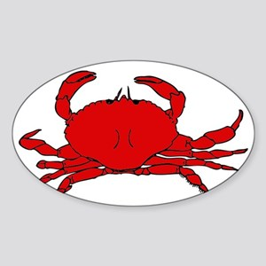 Red Crab Sticker (Oval)