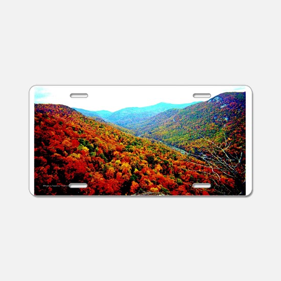 Through The Mountains Aluminum License Plate