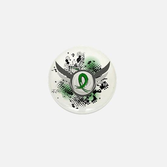 Gastroparesis Grunge Ribbon Wings Mini Button