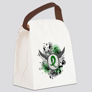 Gastroparesis Grunge Ribbon Wings Canvas Lunch Bag
