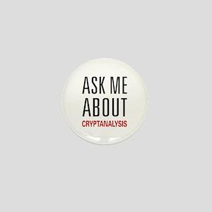 Ask Me About Cryptanalysis Mini Button