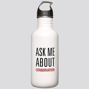Ask Me About Conservation Stainless Water Bottle 1