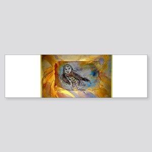 Barn owl, bird art, Bumper Sticker