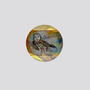 Barn owl, bird art, Mini Button