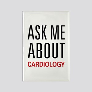 Ask Me About Cardiology Rectangle Magnet