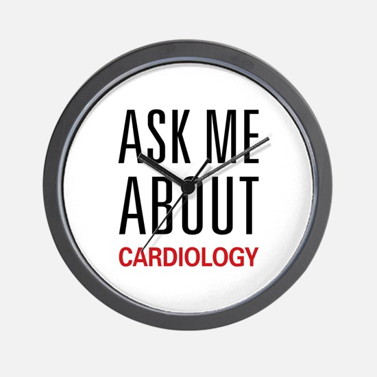 Ask Me About Cardiology Wall Clock