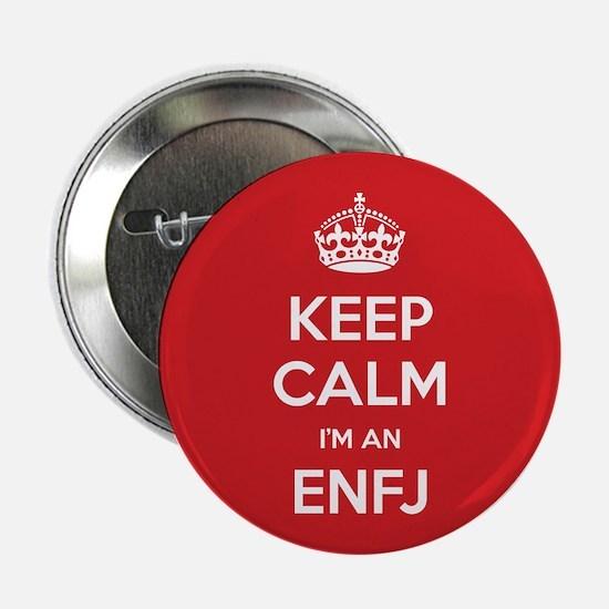 """Keep Calm Im An ENFJ 2.25"""" Button (10 pack)"""