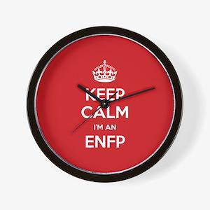 Keep Calm Im An ENFP Wall Clock