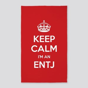 Keep Calm Im An ENTJ 3'x5' Area Rug