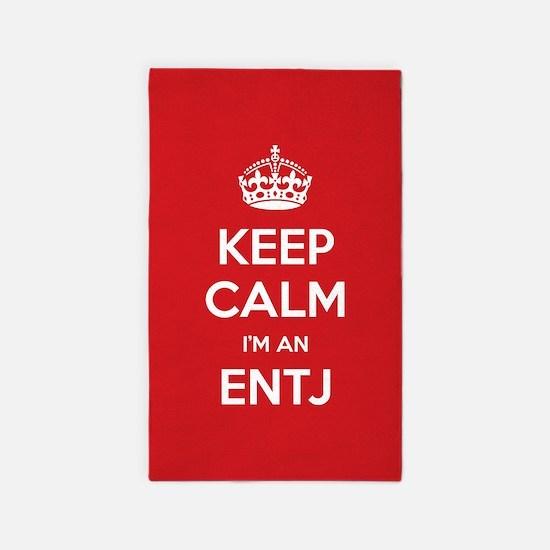 Keep Calm Im An ENTJ 3'x5' Area Rug