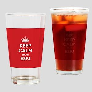 Keep Calm Im An ESFJ Drinking Glass