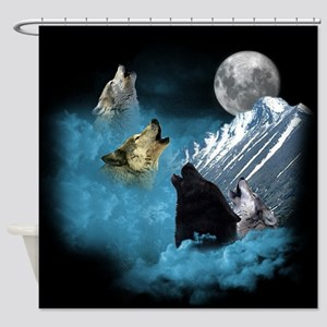 Leader Of The Pack Wolvesshower Curtain
