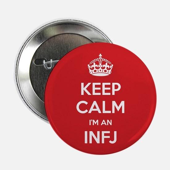 "Keep Calm Im An INFJ 2.25"" Button (10 pack)"