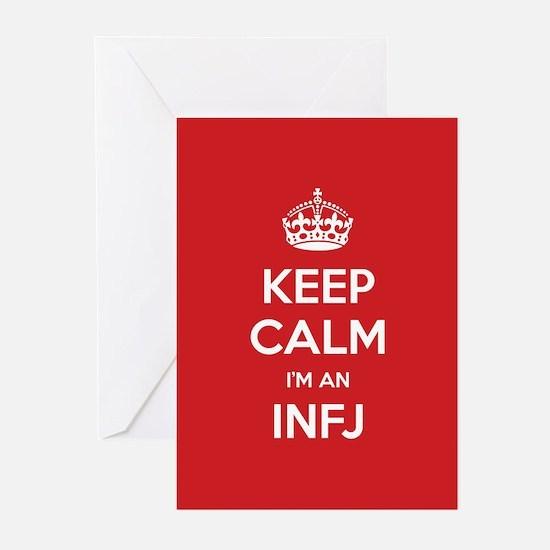 Keep Calm Im An INFJ Greeting Cards