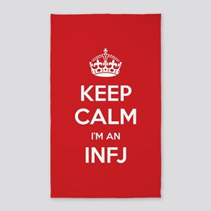 Keep Calm Im An INFJ 3'x5' Area Rug