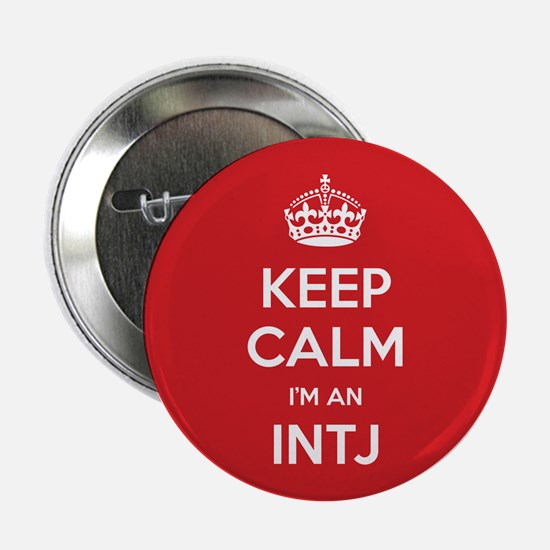 """Keep Calm Im An INTJ 2.25"""" Button (10 pack)"""