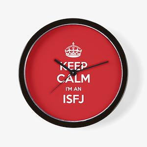 Keep Calm Im An ISFJ Wall Clock
