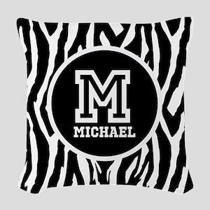 Zebra Animal Print Personalized Monogram Woven Thr